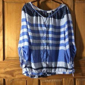 A poke a dot blouse New York Collection